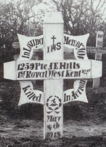 albert edward hills wooden cross