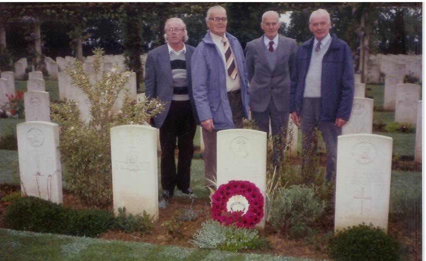 brooks robert family visiting grave