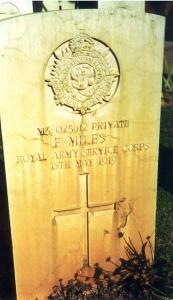 frederick john miles headstone
